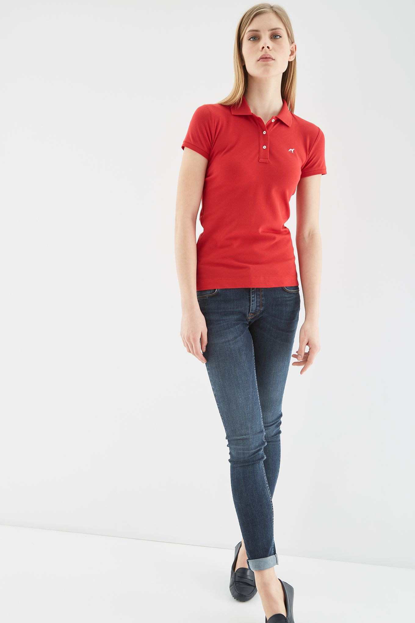 Womens Basic Piquet Polo