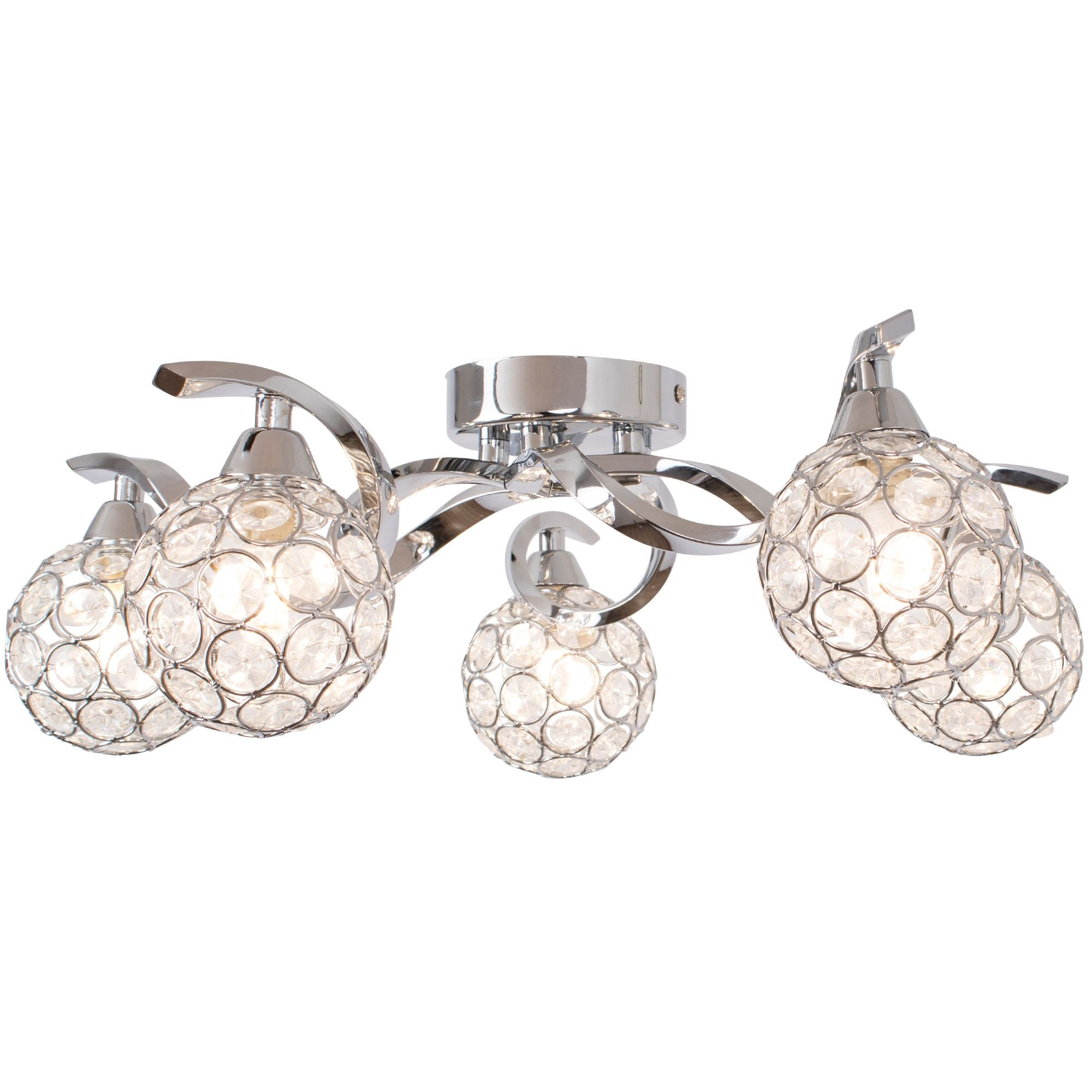 Zana 5 Light Semi Flush Ceiling Light