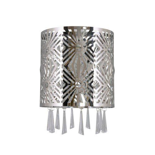 Jadene Cut Polished Chrome Pendant Ceiling Shade
