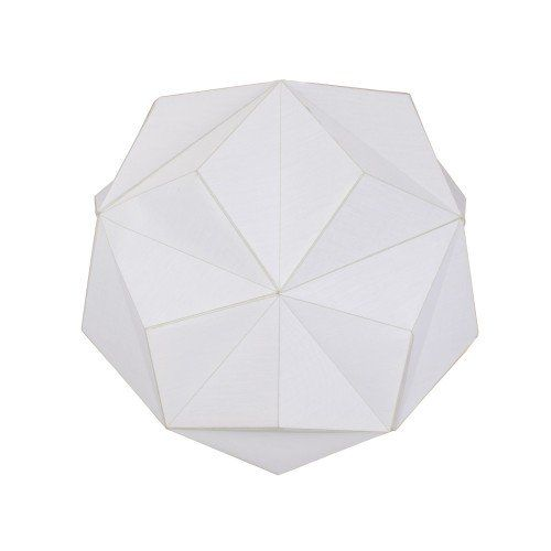 Duggan Ivory Geometric Pendant Ceiling Light Shade