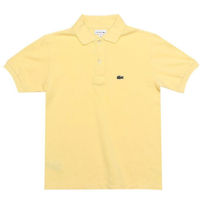 Boy's Lacoste Junior Polo Shirt in Lemon