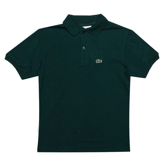 Boy's Lacoste Junior Polo Shirt in Green