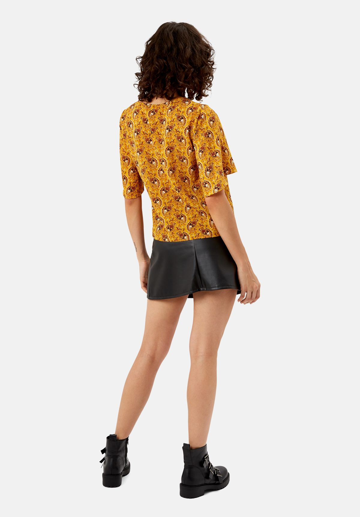 Paisley Whisper Top in Yellow