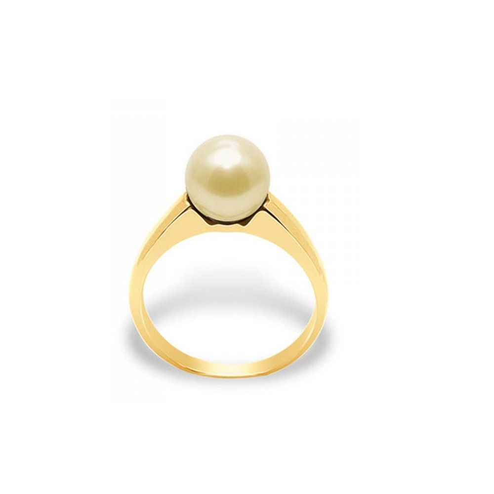 Gold Freshwater Pearl Ring and Yellow Gold 375/1000
