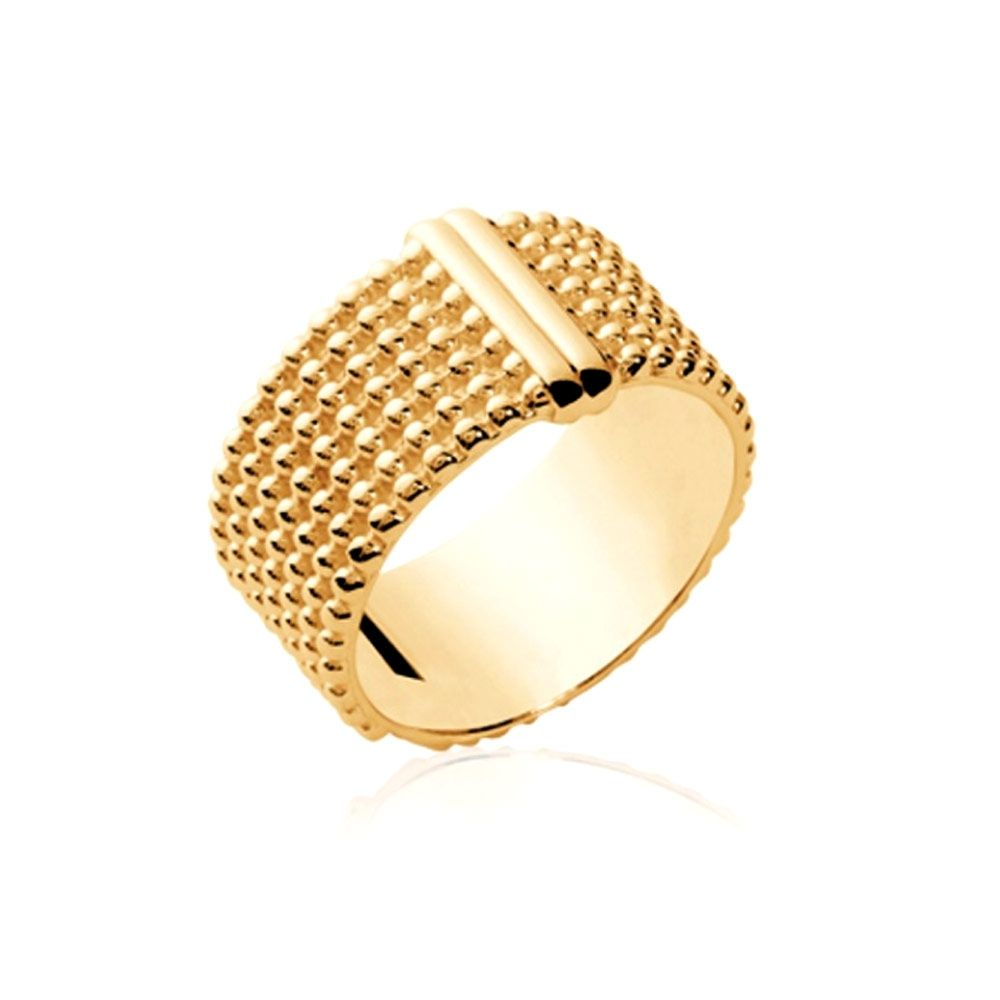 Yellow Gold Plated Heart Women Ring