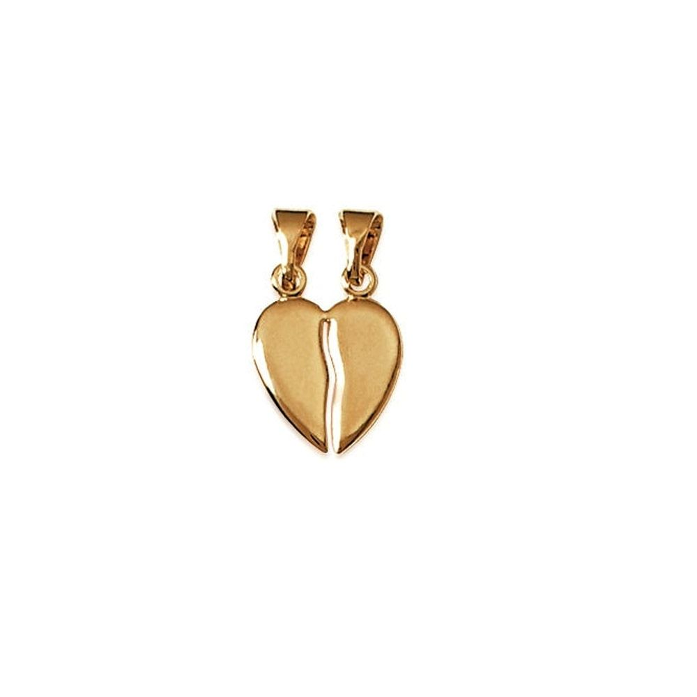 Yellow Gold Plated Heart Couple Pendant