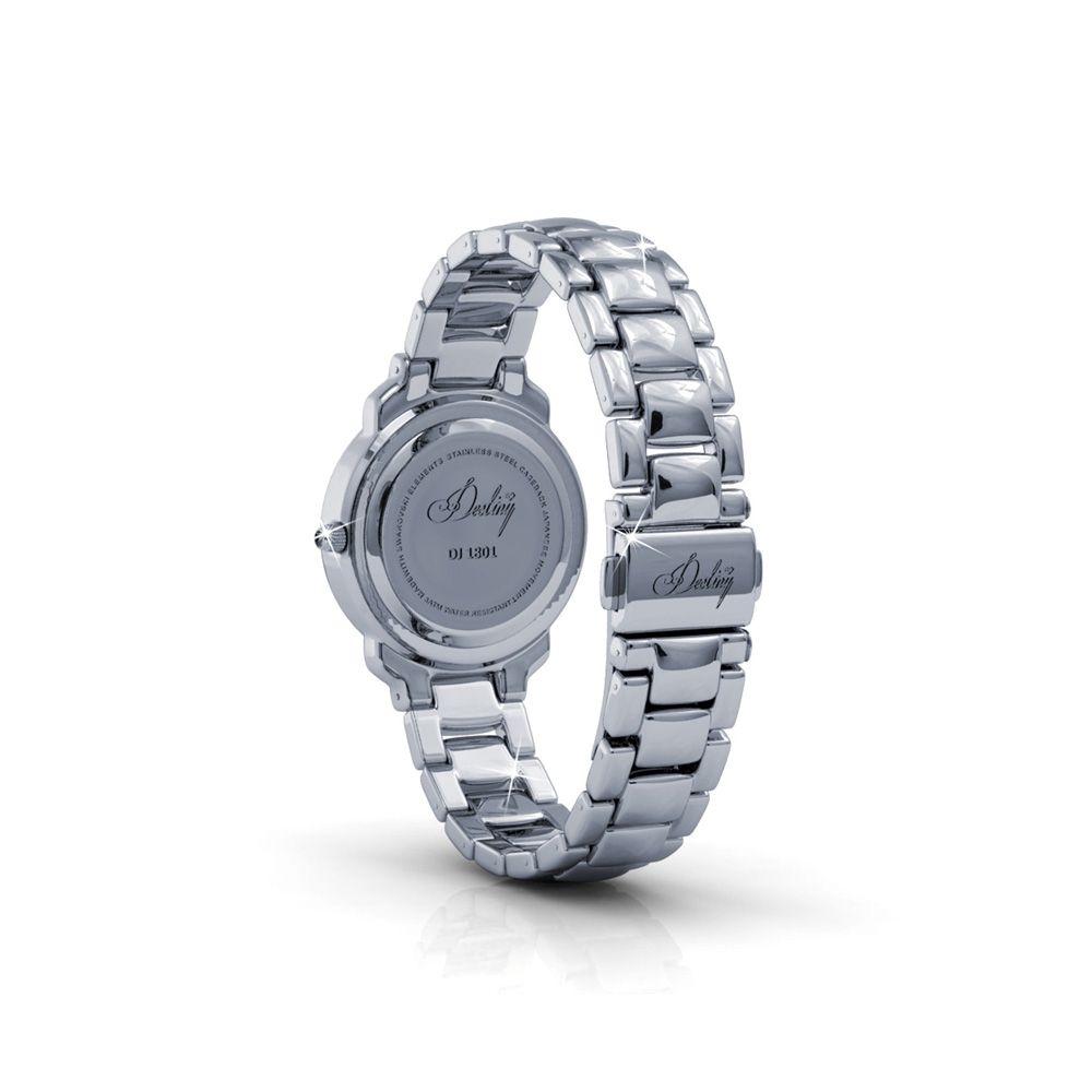 Swarovski - Black Stainless Steel Watch with Swarovski Elements Crystals