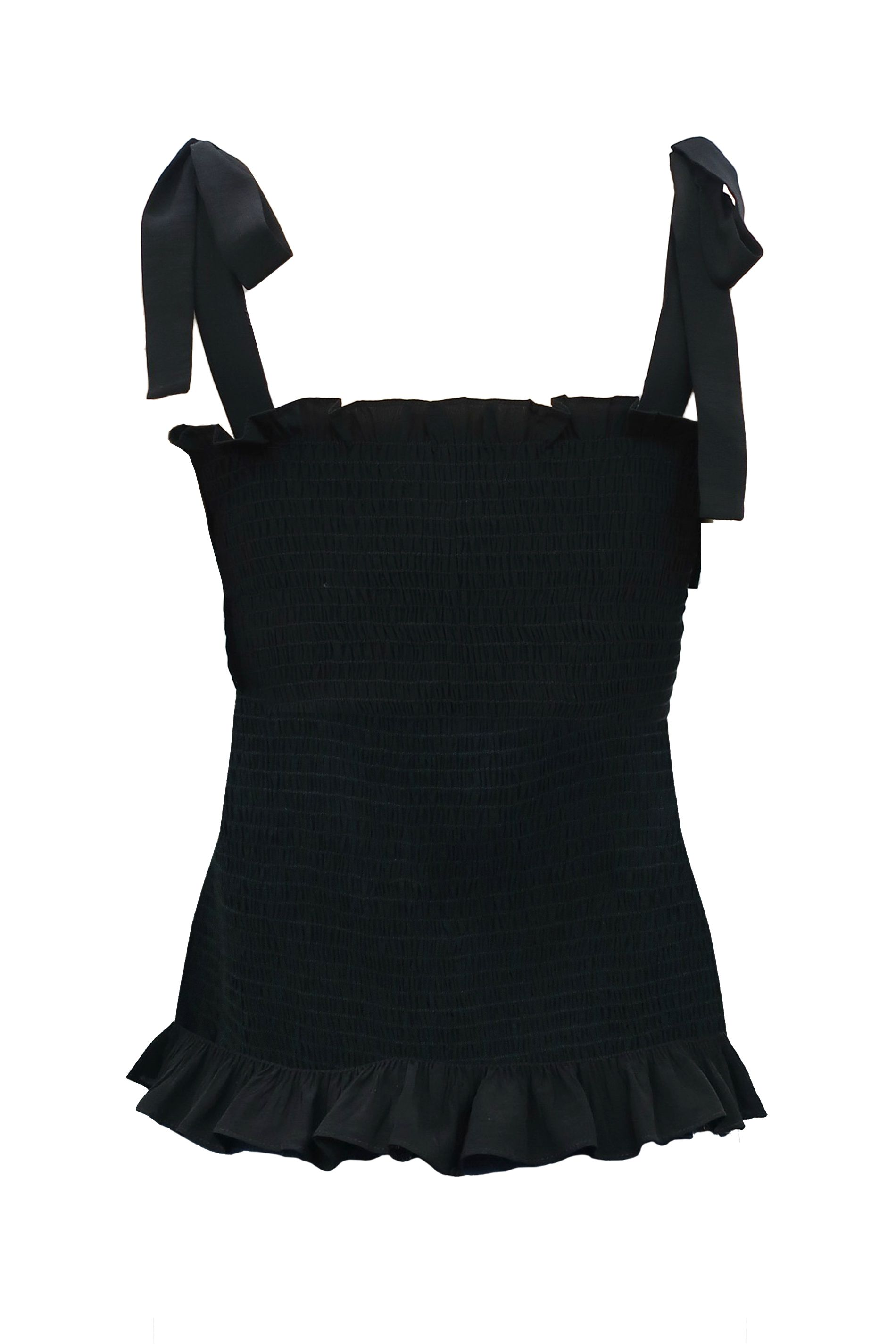 Holy Moly Stretch Sleeveless Top in Black