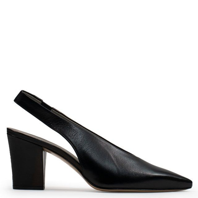 Calpierre Ramone Leather Sling Back Court Shoes