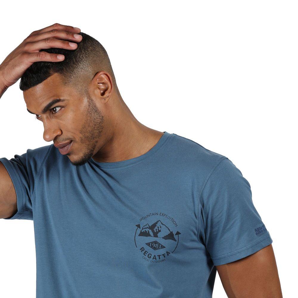 Regatta Mens Cline IV Cotton Casual Grahpic T Shirt Tee