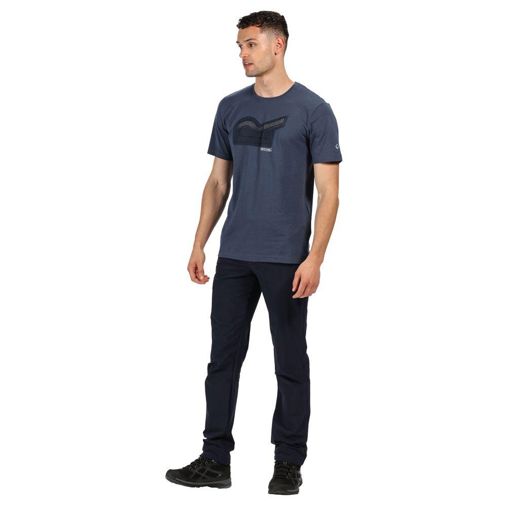 Regatta Mens Breezed Cotton Casual Graphic T Shirt