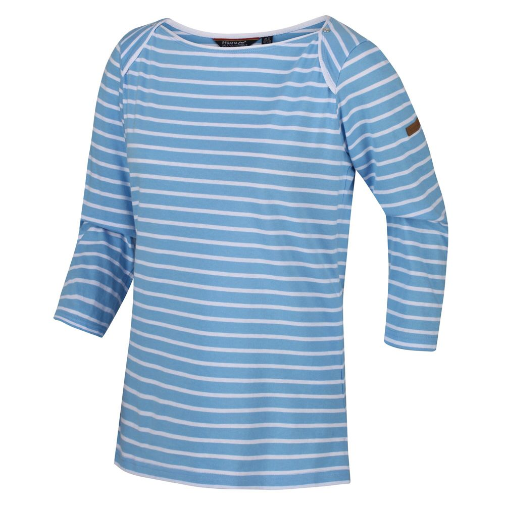 Regatta Womens Polina Coolweave Cotton Striped Jersey Top