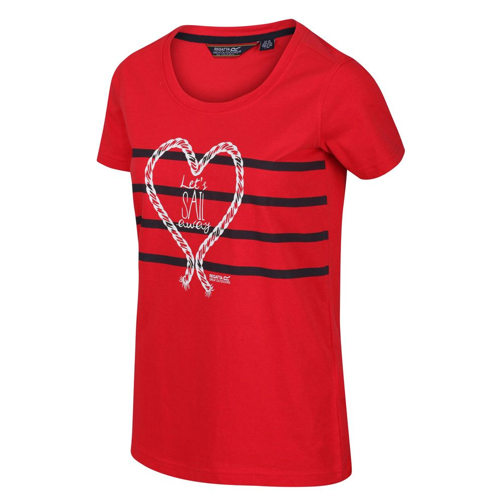 Regatta Womens Filandra IV Coolweave Cotton Graphic T Shirt