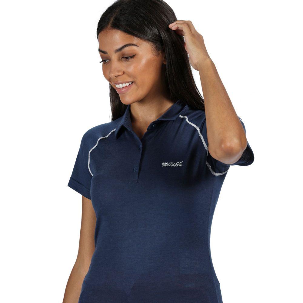 Regatta Womens Kalter Moisture Wicking Active Polo Shirt