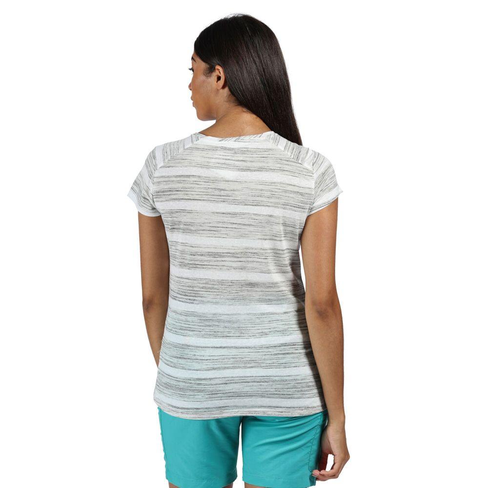 Regatta Womens Limonite IV Wicking Stripe Casual T Shirt