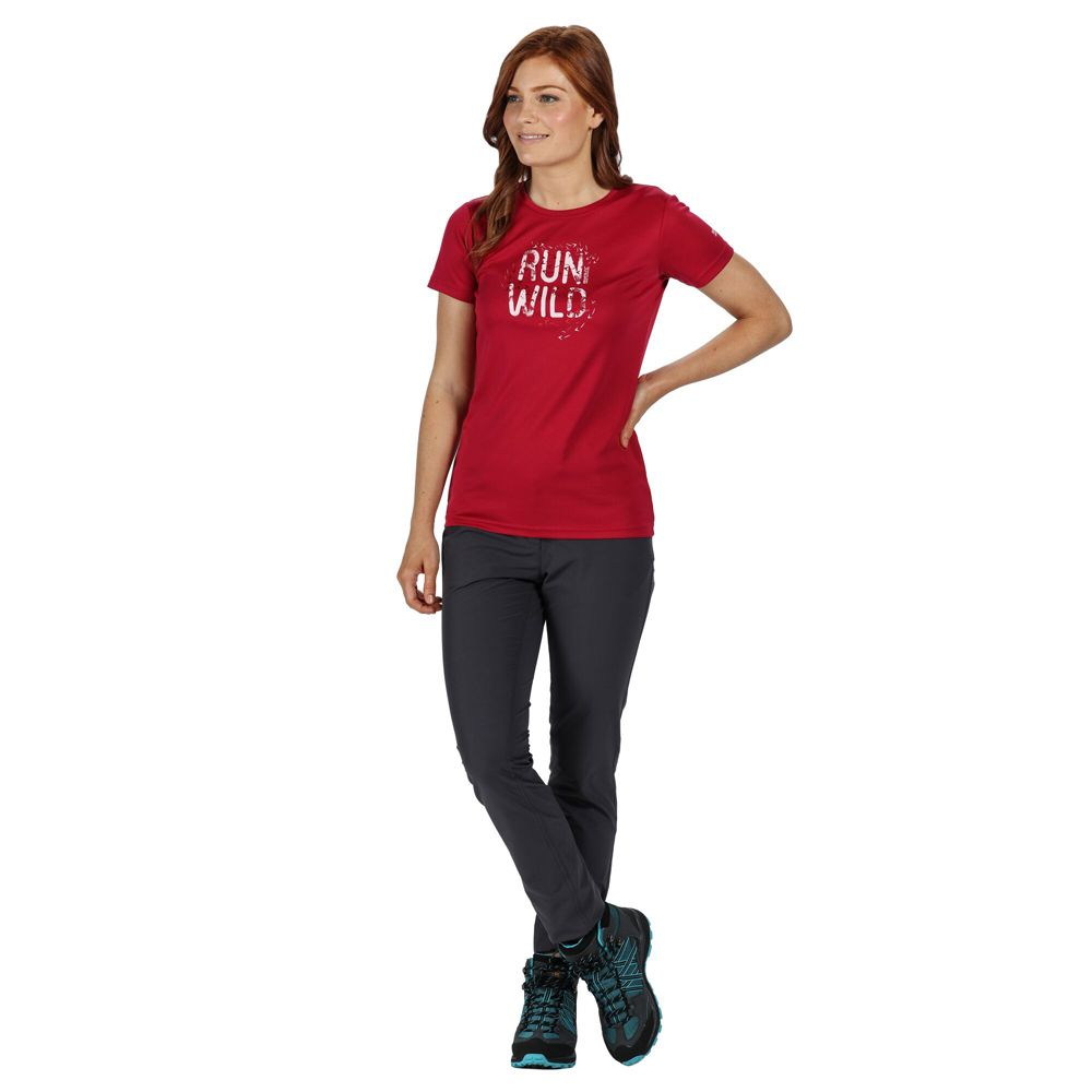 Regatta Womens Fingal V Quick Drying Wicking Graphic T Shirt