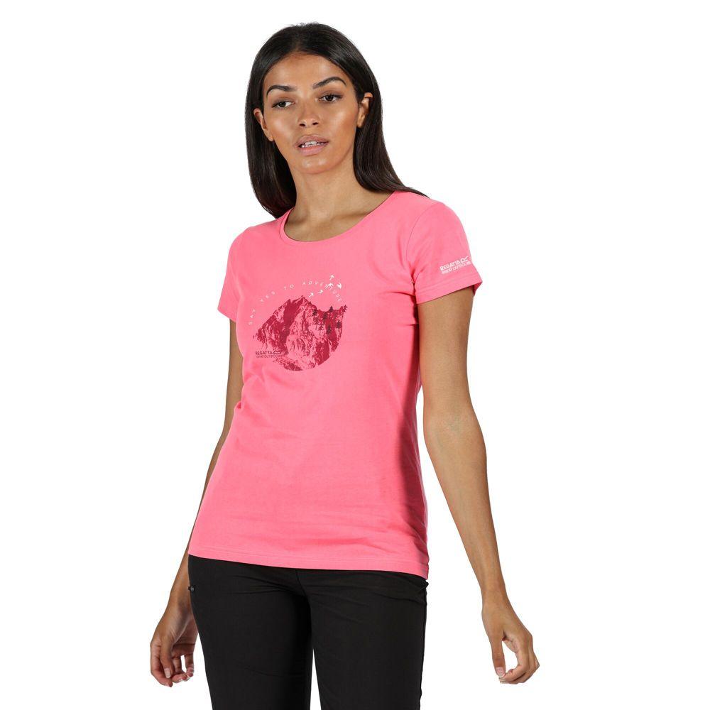 Regatta Womens Breezed Cotton Soft Graphic Jersey T Shirt