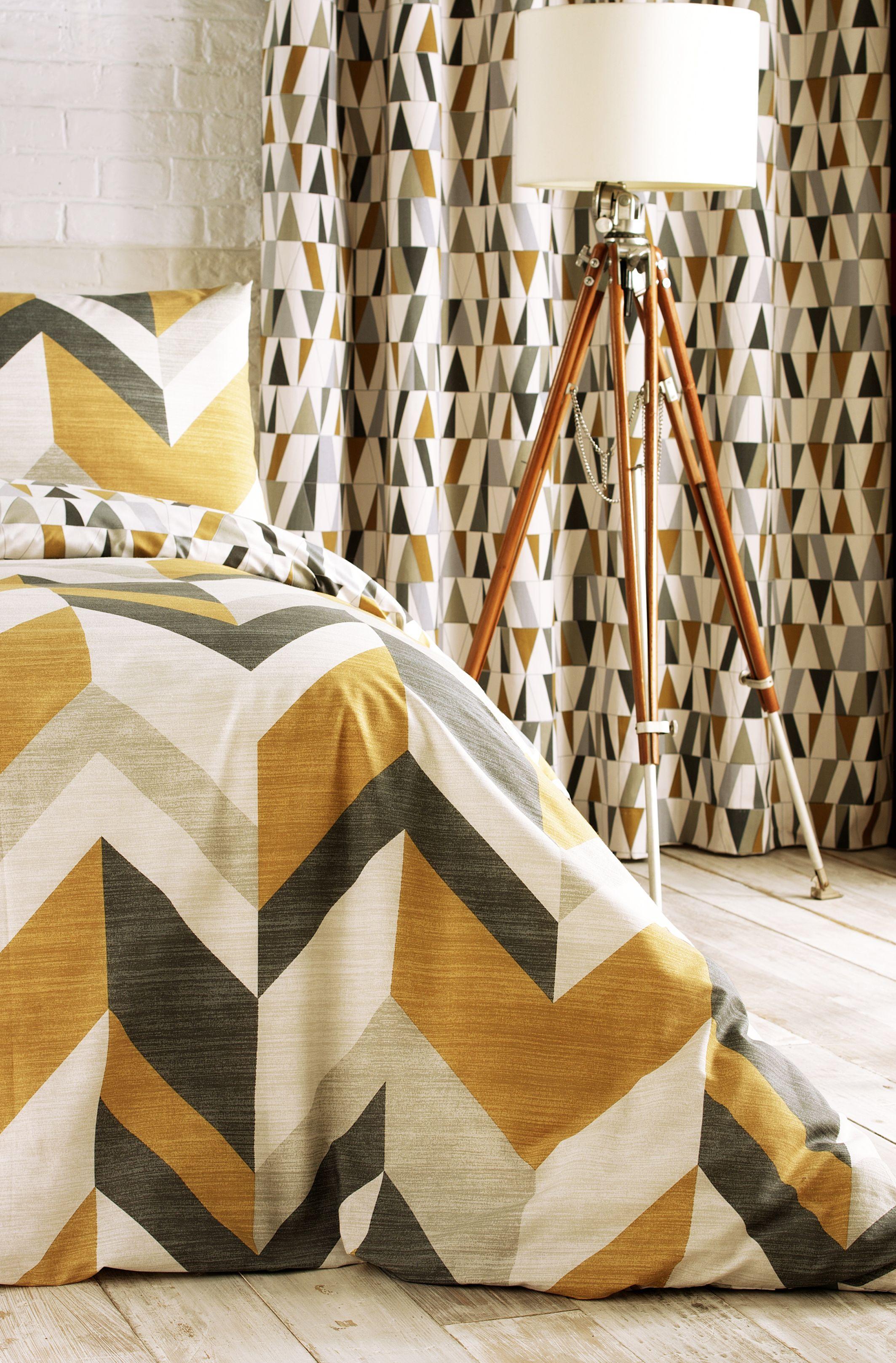 Reno Duvet Set Charcoal/Gold