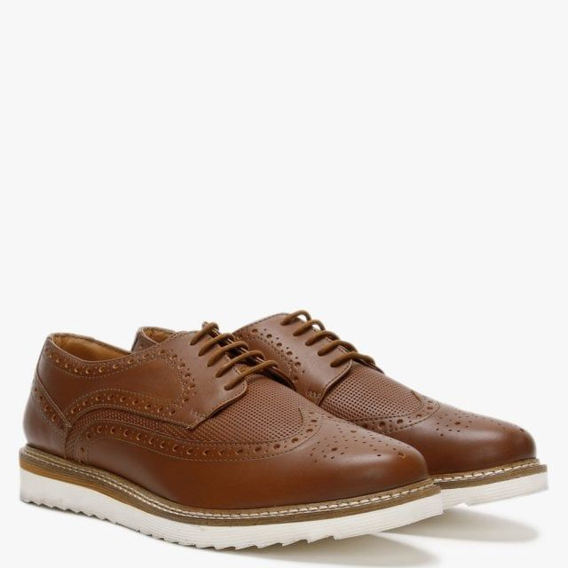 Richman Leather Lace Up Contrasting Sole Brogues