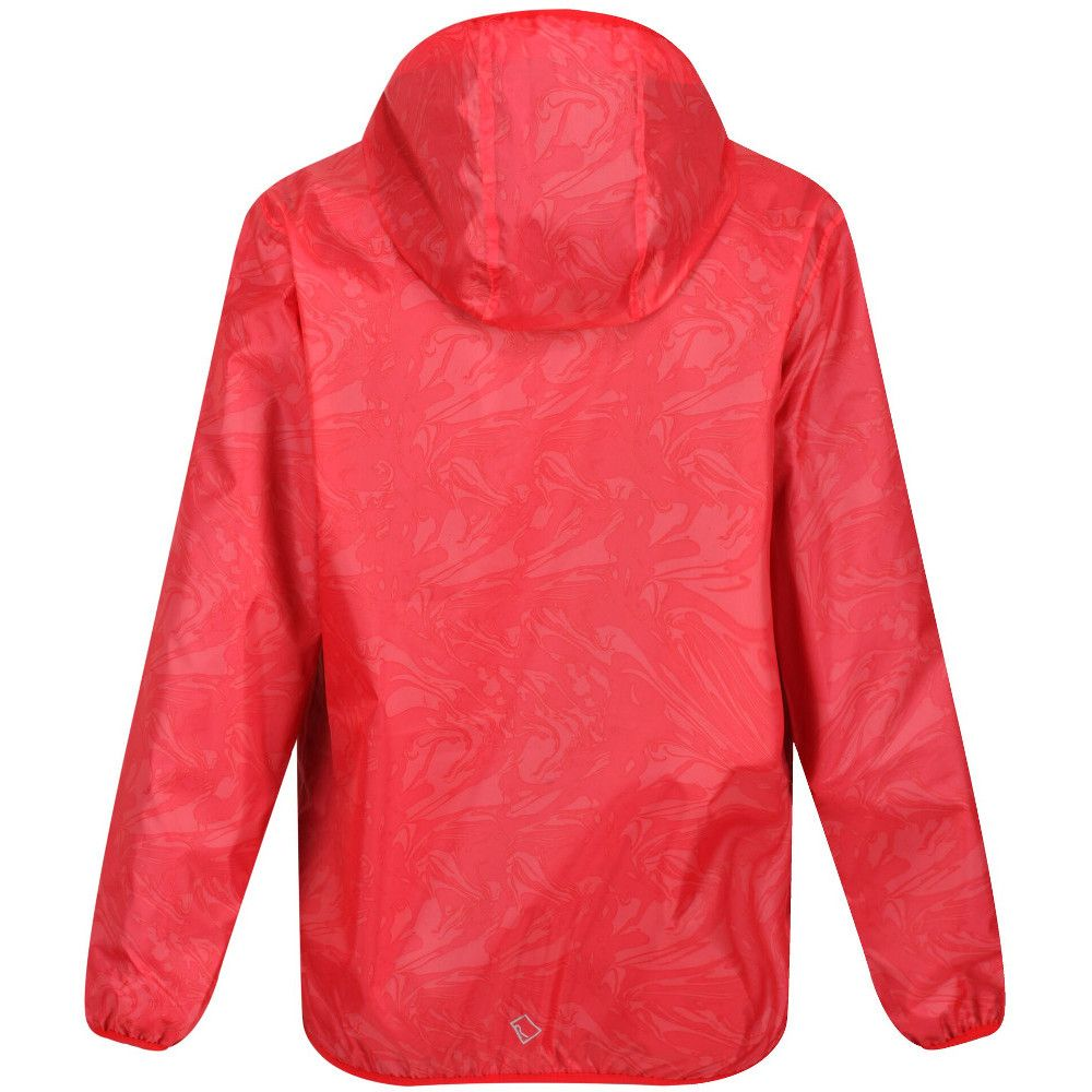 Regatta Boys & Girls Printed Lever Waterproof Breathable Jacket