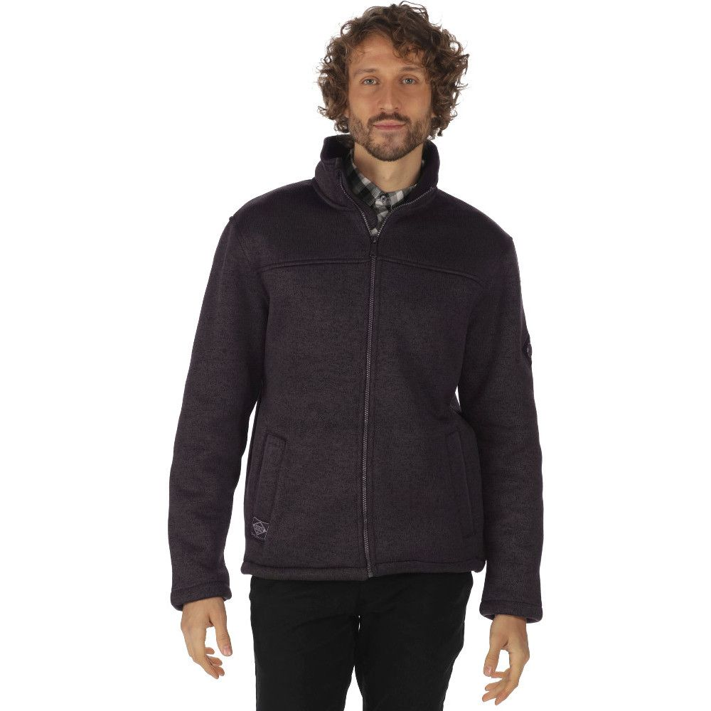 Regatta Mens Palin Polyester Knit Effect Polyester Fleece Jacket