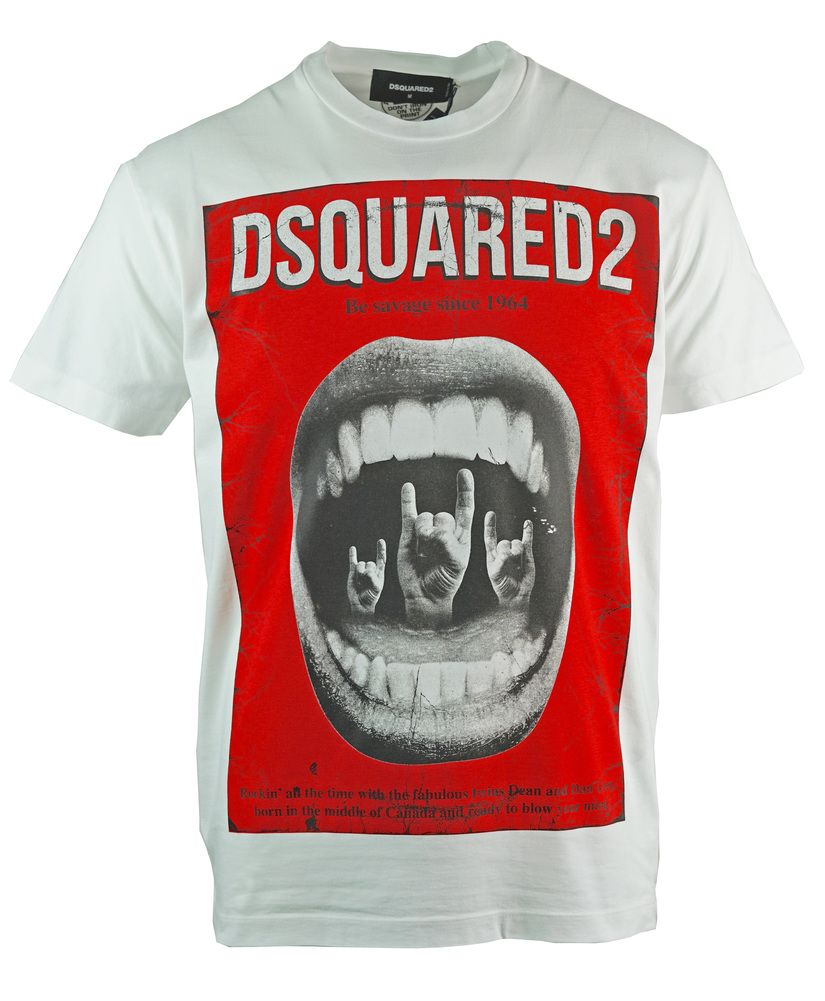 Dsquared2 Cool Fit Punk Rock White T-Shirt