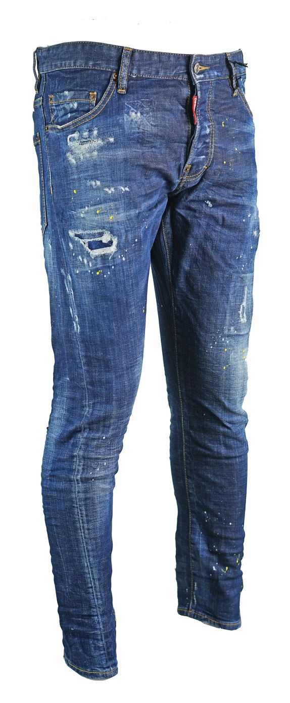 Dsquared2 Sexy Twist Jean Destroyed Paint Effect Jeans