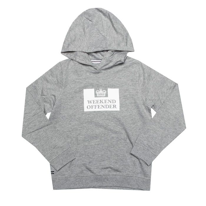 Boy's Weekend Offender Infant HM Service Hoody in Grey Marl