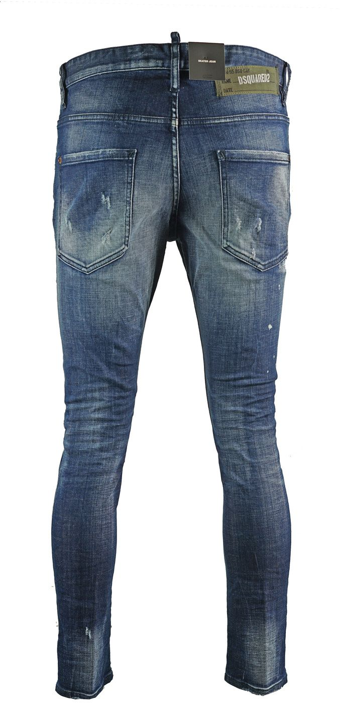 Dsquared2 Skater Jean Distressed Faded Jeans