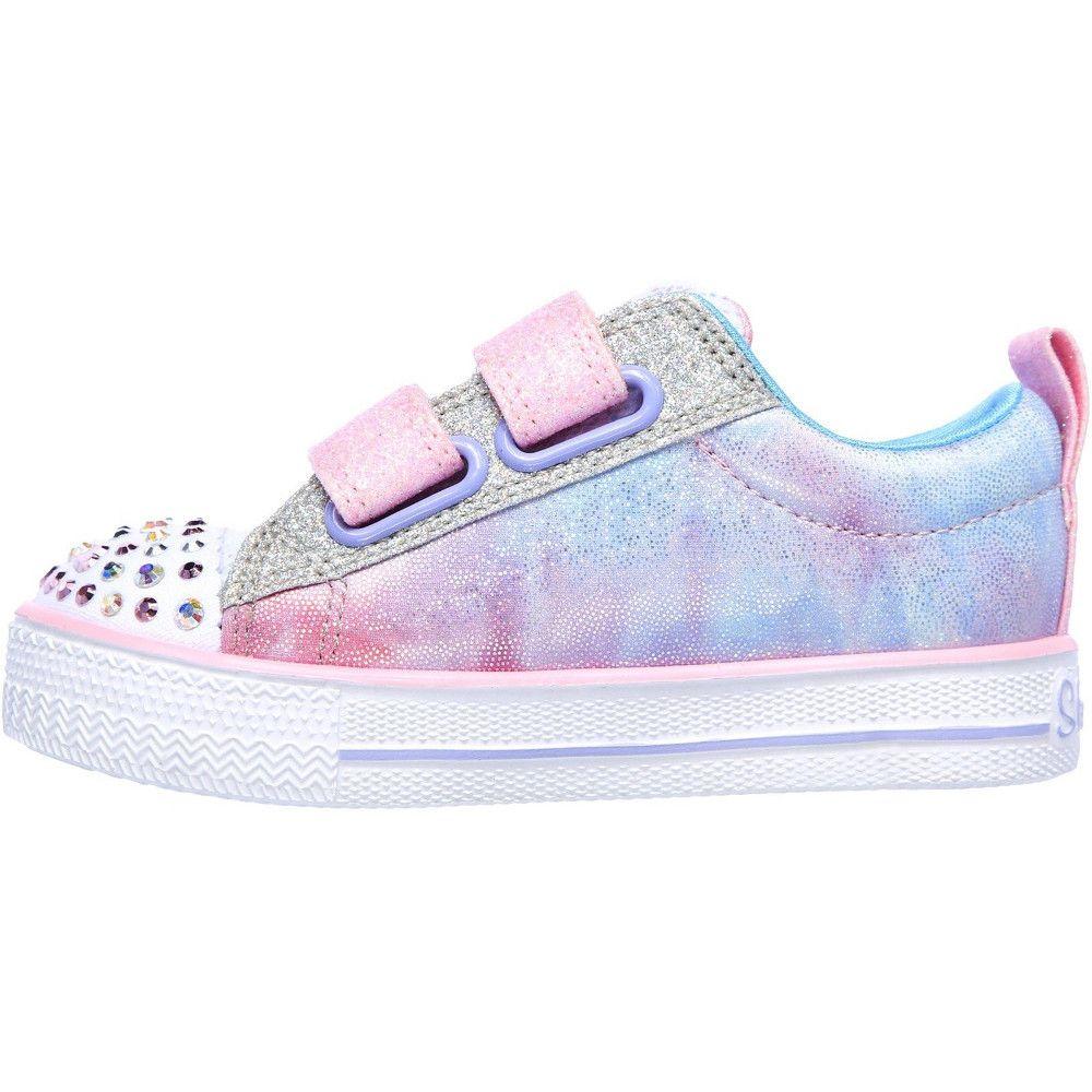 Skechers Girls Shuffle Lites Sweet Supply Light Up Shoes