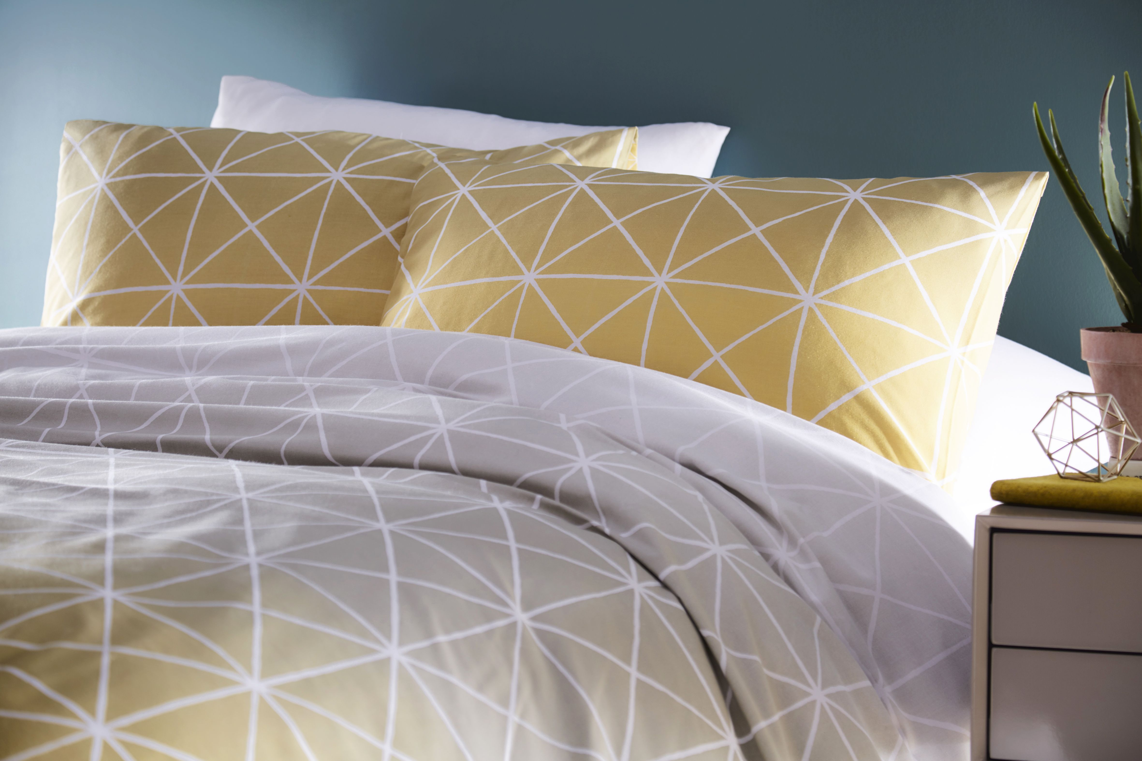 Spectrum Duvet Set Ochre/Grey