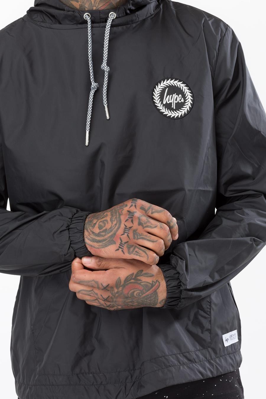 Hype Black Crest Mens Fishtail Jacket