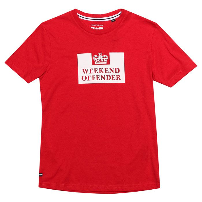 Boy's Weekend Offender Infant Prison T-Shirt in Gold