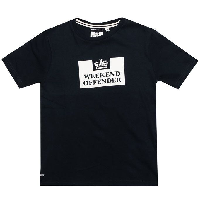 Boy's Weekend Offender Junior Prison T-Shirt in Navy