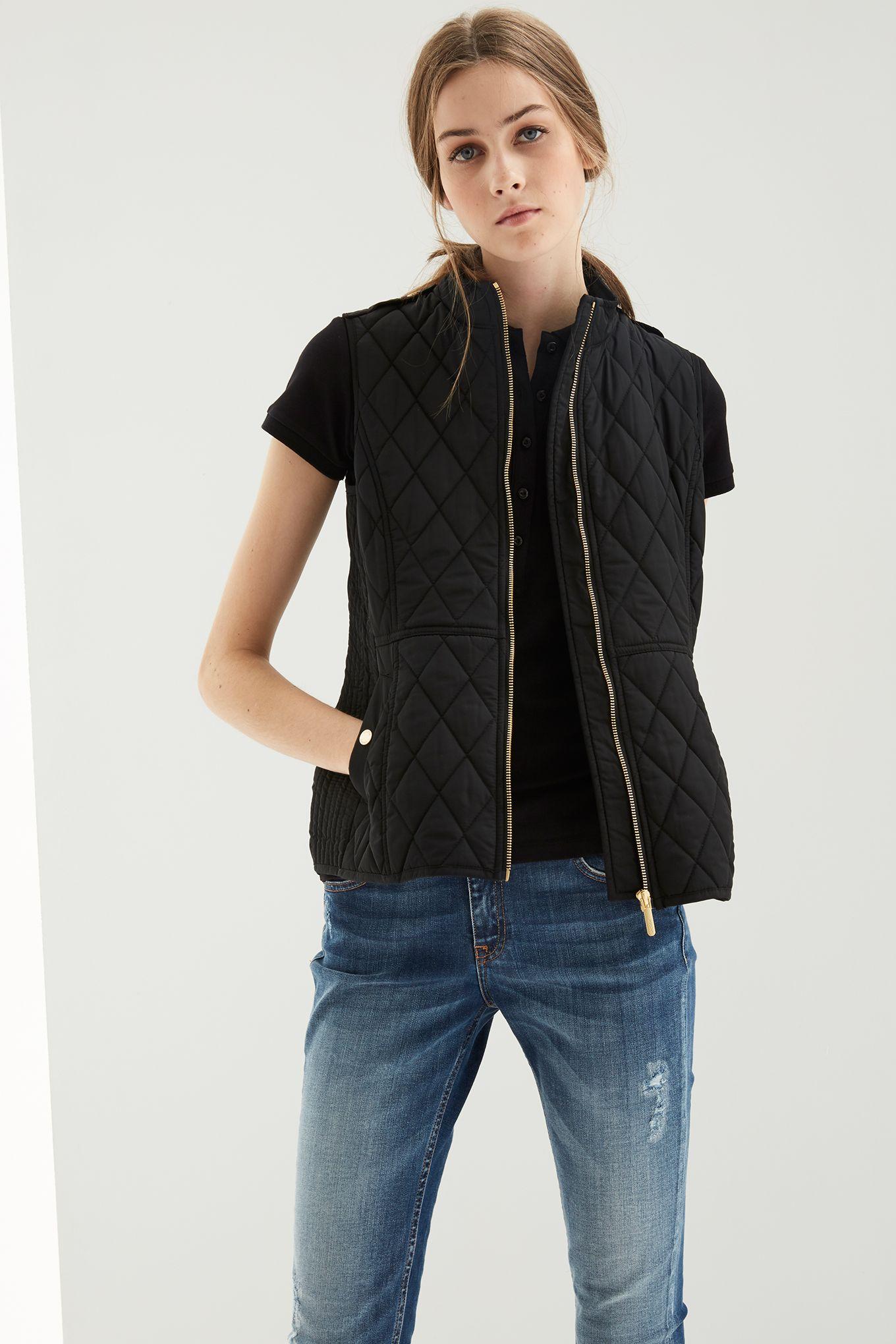 Womens black casual vest