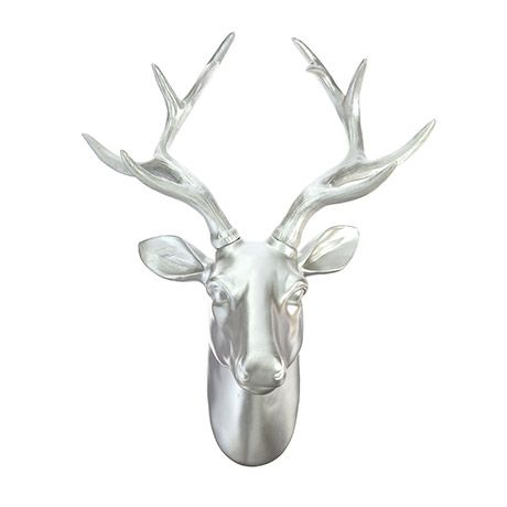 Premium Deer Head Wall Art Decorations Home or gifts idea - Silver