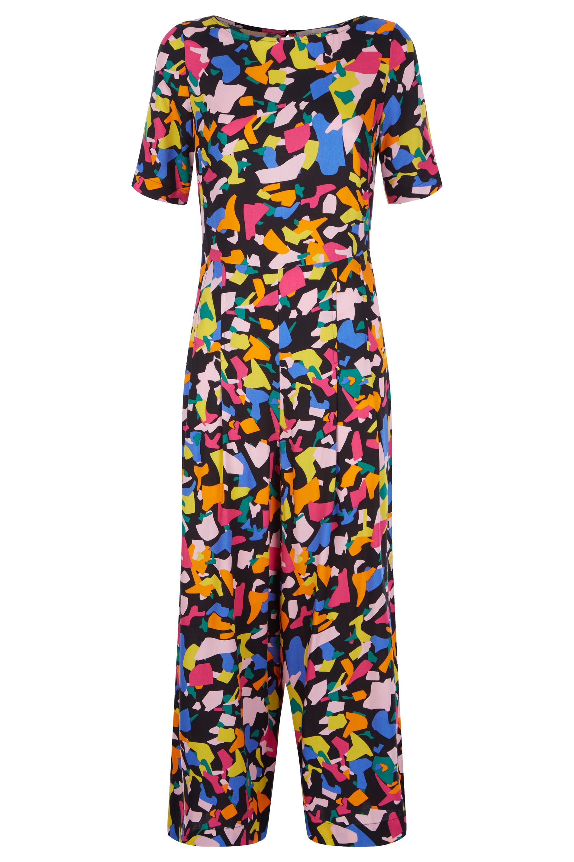 Bianca Confetti Print Short Sleeve Jumpsuit
