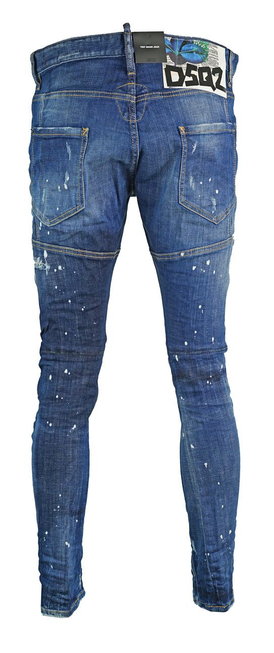 Dsquared2 Tidy Biker Jean Frayed Distressed Jeans