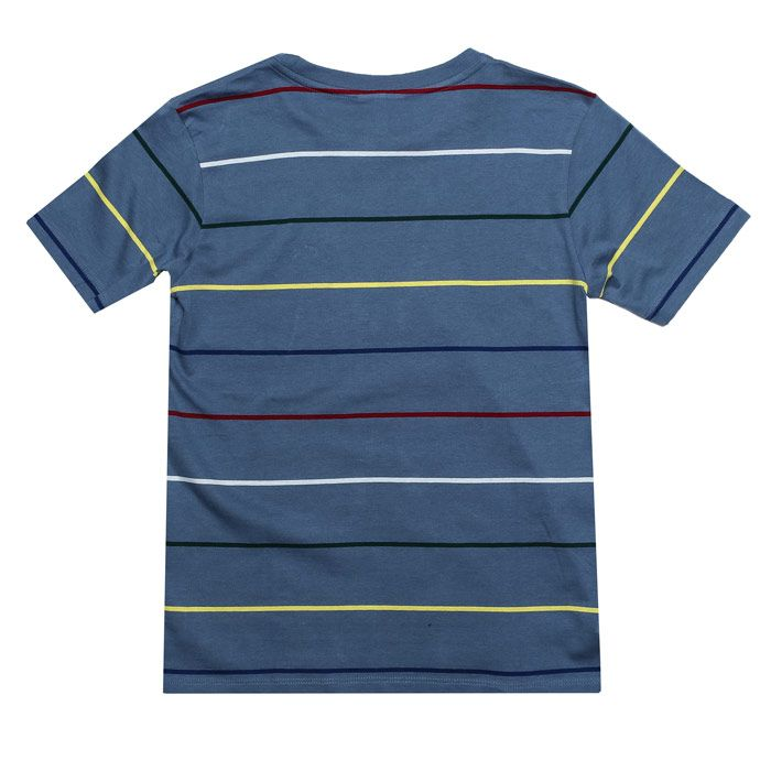 Boy's Lacoste Infant Striped T-Shirt in Blue
