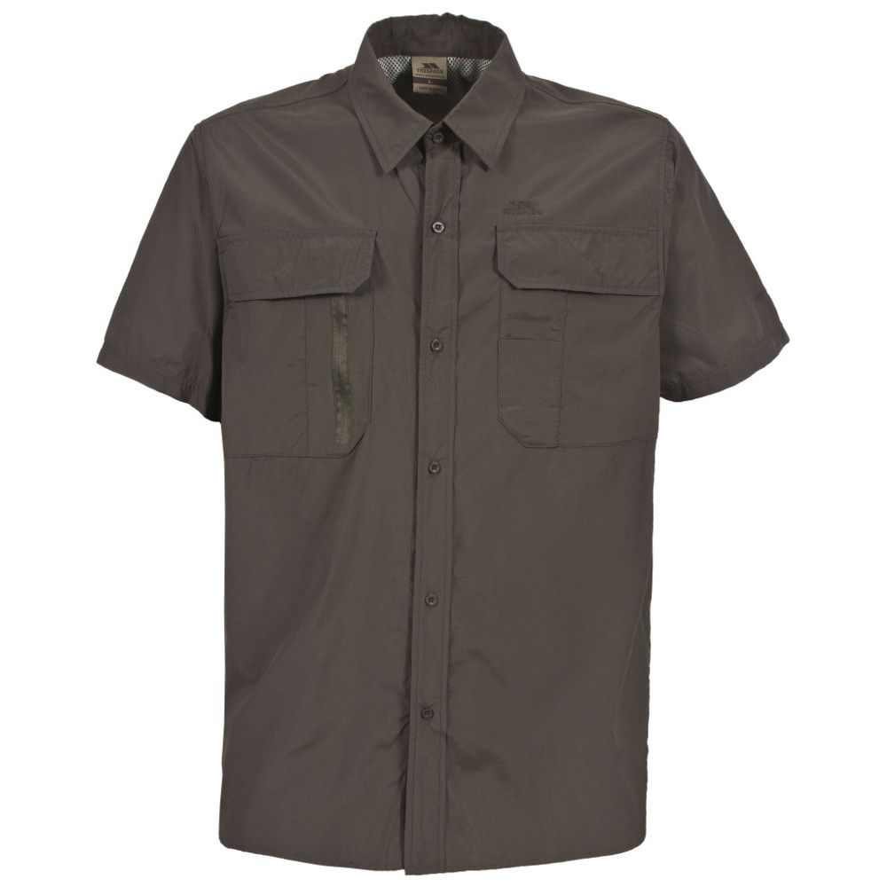 Trespass Mens Colly Short Sleeve Mosquito Repellent Travel Shirt