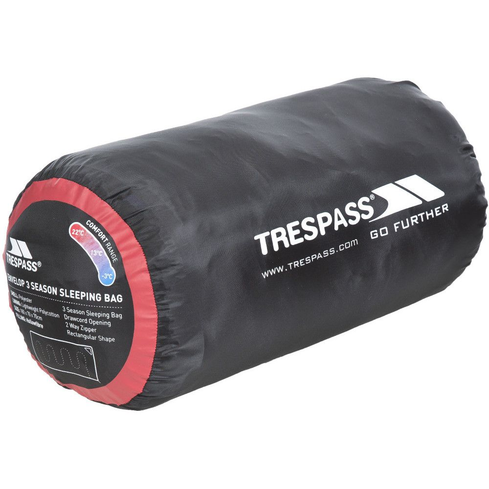 Trespass Mens & Ladies Envelop Unisex Three Season Sleeping Bag