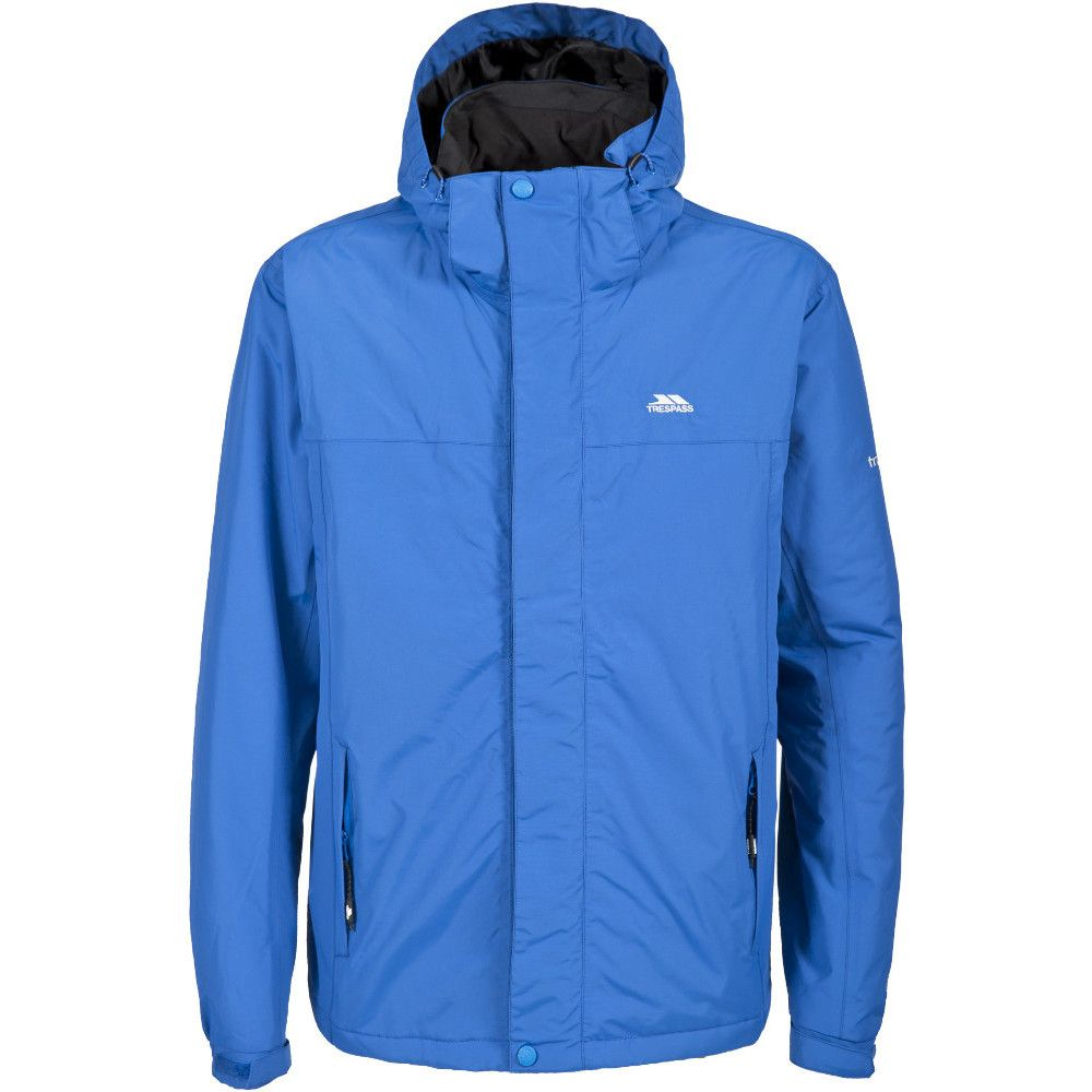 Trespass Mens Donelly Waterproof Breathable Padded Rain Coat Jacket