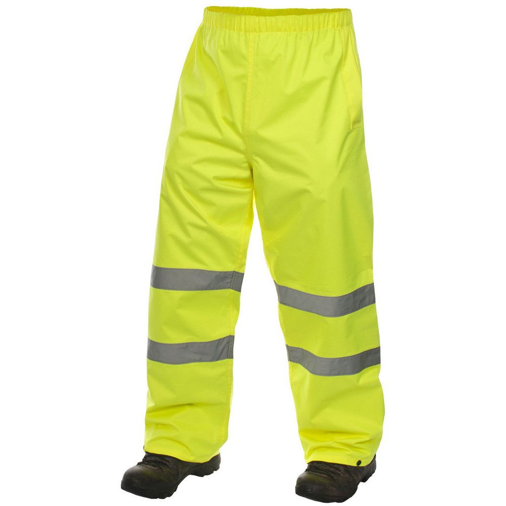 Trespass Mens Tomo Waterproof Breathable High Visibility Work Trousers