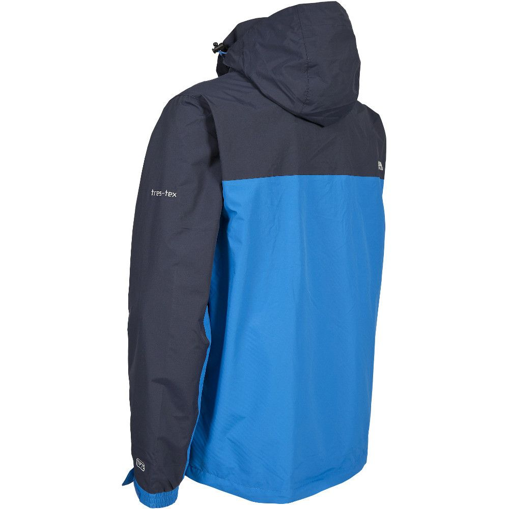 Trespass Mens Phelps Waterproof Breathable Windproof Rain Shell Jacket