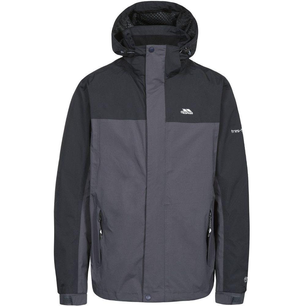 Trespass Mens Phelps Waterproof Breathable Windproof Rain Shell Jacket