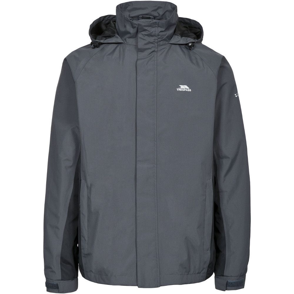 Trespass Mens Rogan II Waterproof Windproof Rain Shell Jacket