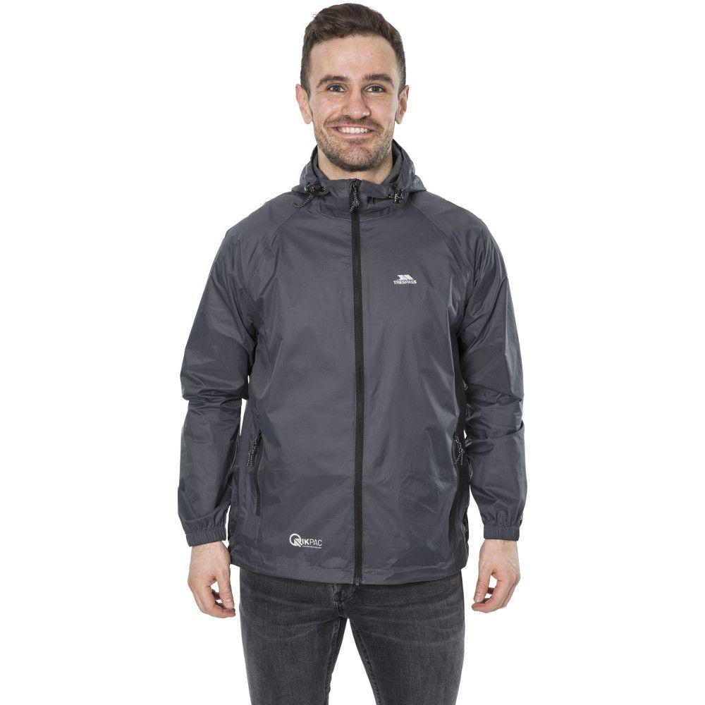 Trespass Mens & Womens/Ladies Qikpac Packaway Waterproof Shell Jacket