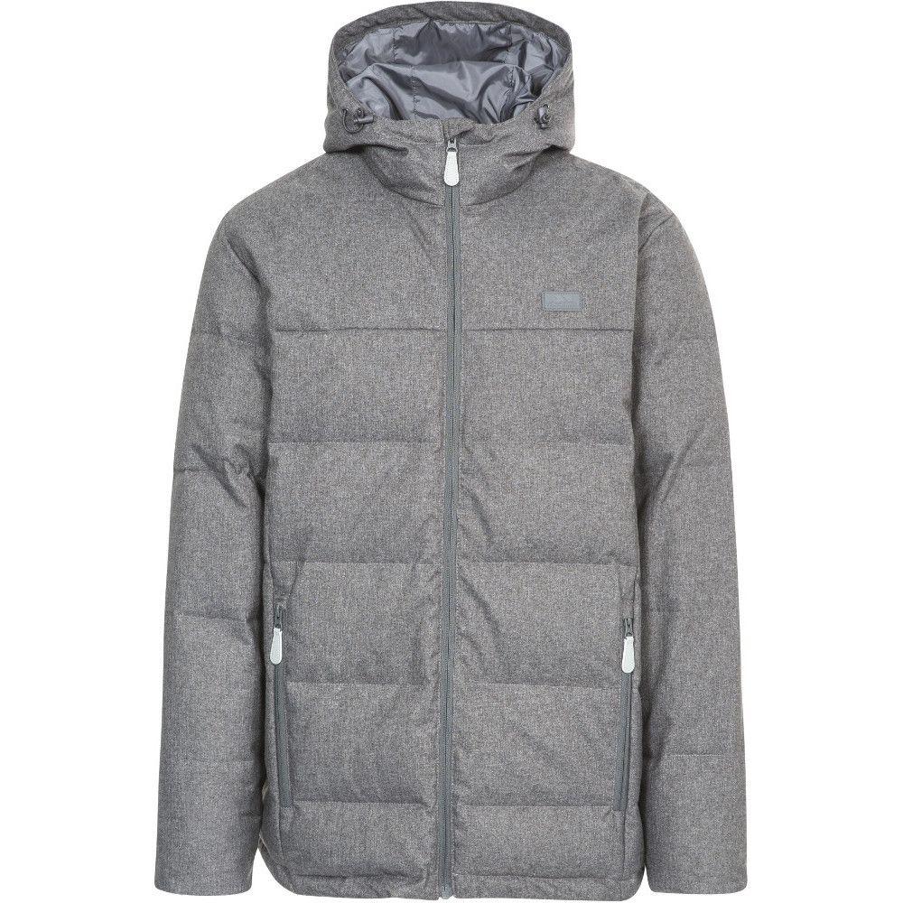 Trespass Mens Sadler Polyester Adjustable Hooded Down Jacket Coat