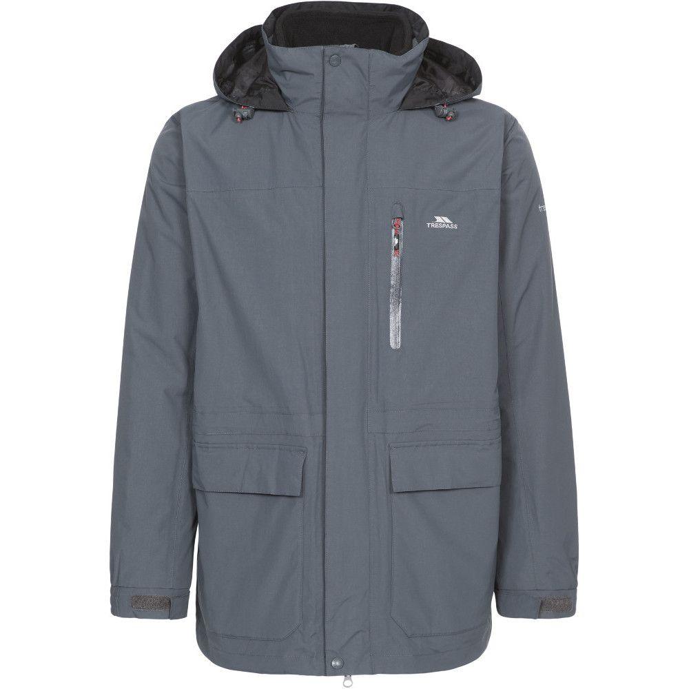 Trespass Mens Edgewater II Waterproof Breathable 3 In 1 Shell Jacket