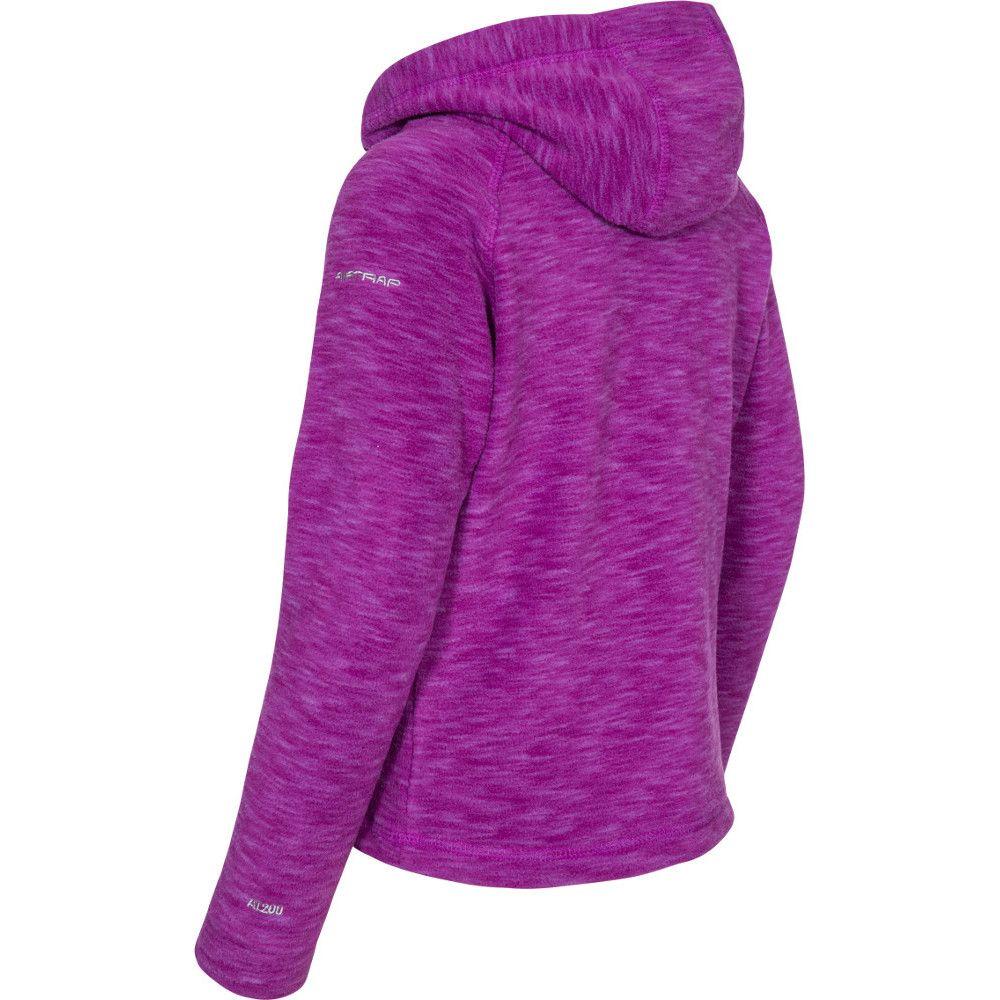 Trespass Boys & Girls Moonflow Hooded Soft Knitted Marl Fleece Jacket